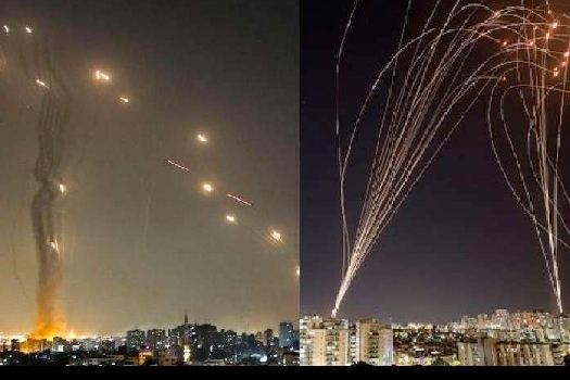 प्यालेस्टाइन र इजरेलको आकाशभर रकेट बमकाे वर्षा, ७४ को मृत्यु