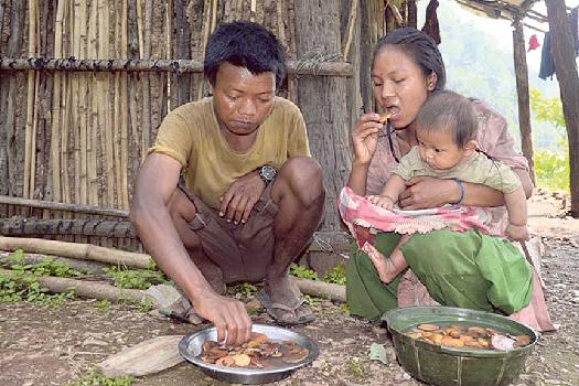 अन्न छैन : छाक टार्न गिट्ठा, भ्याकुर