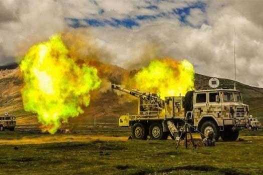 चीनद्वारा भारतको सीमानजिक आधुनिक तोपगोलासहित युद्ध अभ्यास